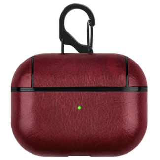 Merk 123watches Apple AirPods PRO lederen hard case - rood