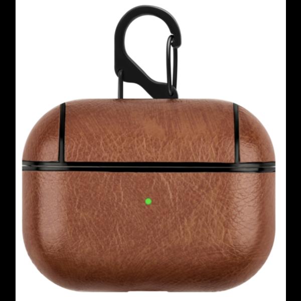 123Watches Étui rigide en cuir Apple AirPods PRO - brun clair
