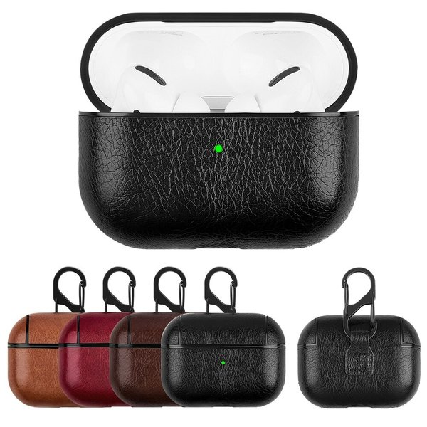 123Watches Apple AirPods PRO leather hard case - dark brown