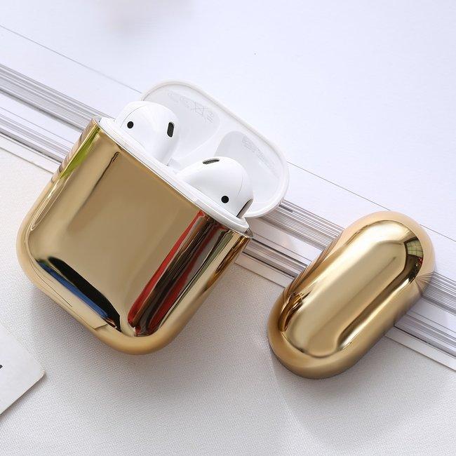 Merk 123watches Apple AirPods 1 & 2  metallic hard case - goud