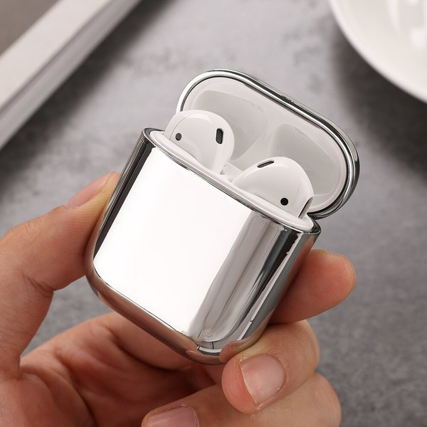 123Watches Apple AirPods 1 & 2 metallic hard case - silver
