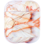 123Watches Apple AirPods 1 & 2 marble soft case - red