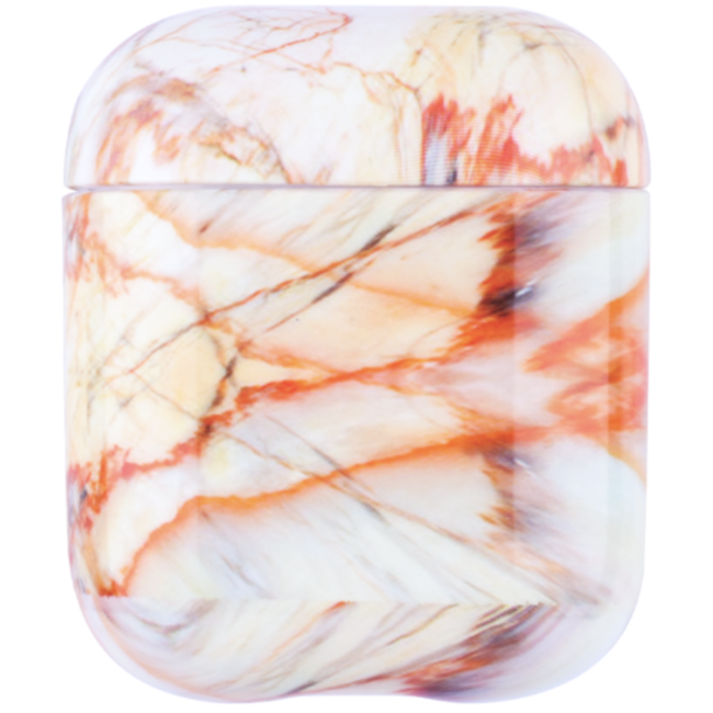 Apple AirPods 1 & 2 marble soft case - red
