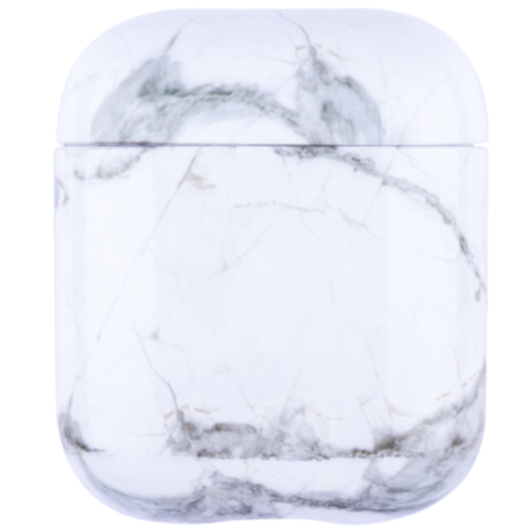 123Watches Apple AirPods 1 & 2 marble soft case - cloud