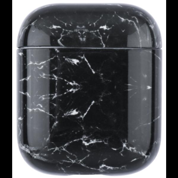 123Watches Apple AirPods 1 & 2 marmer soft case - zwart