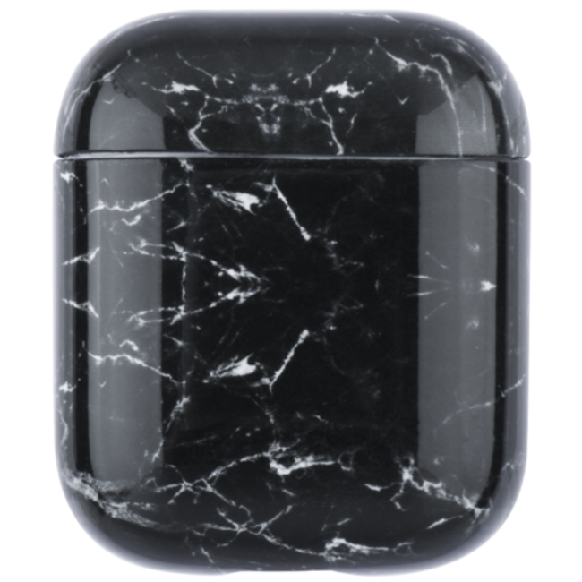 Merk 123watches Apple AirPods 1 & 2 marble soft case - black