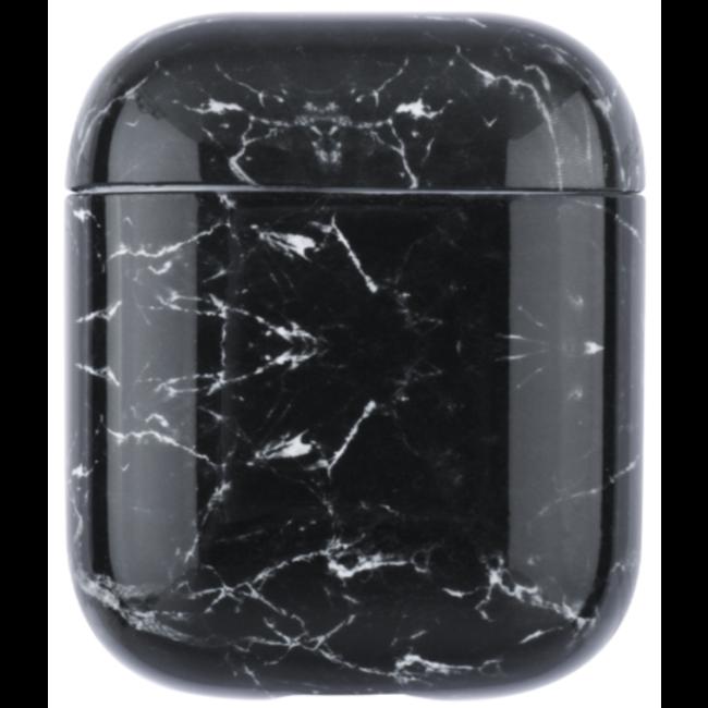 Merk 123watches Apple AirPods 1 & 2 marmer soft case - zwart
