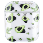 123Watches Apple AirPods 1 & 2 transparant fun hard case - avocado