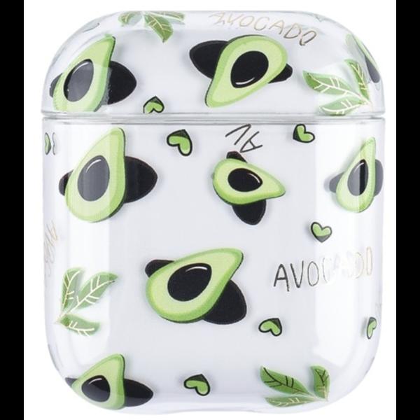 123Watches Apple AirPods 1 & 2 transparent fun hard case - avocado