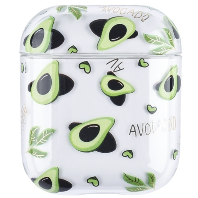 Apple AirPods 1 & 2 transparent fun hard case - avocado