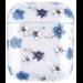 123Watches Apple AirPods 1 & 2 transparent fun hard case - blue flower