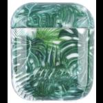 123Watches Coque Rigide Amusante Transparente pour Apple AirPods 1 & 2 - feuille verte
