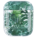 123Watches Apple AirPods 1 & 2 transparent fun hard case - green leaf