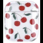 123Watches Apple AirPods 1 & 2 transparent fun hard case - cherries