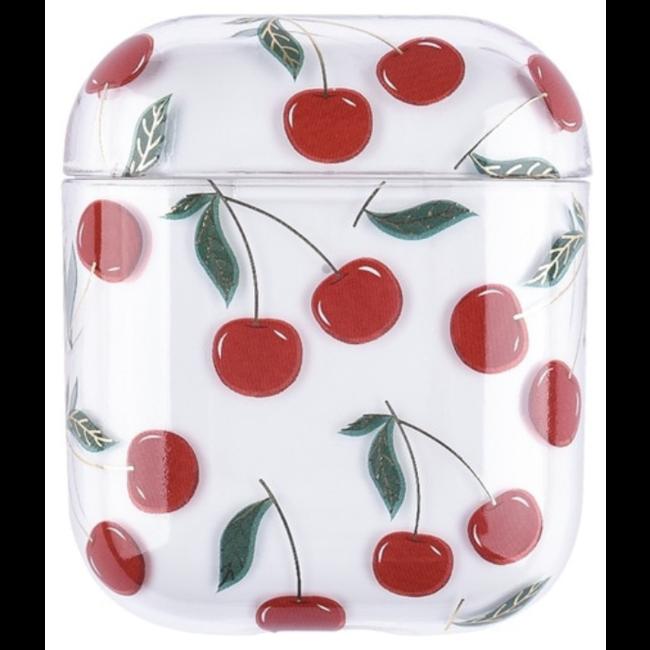 Merk 123watches Apple AirPods 1 & 2 transparent fun hard case - cherries