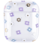 123Watches Apple AirPods 1 & 2 transparant fun hard case - mix bloemen