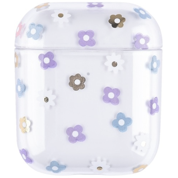 123Watches Apple AirPods 1 & 2 transparent fun hard case - mix flowers