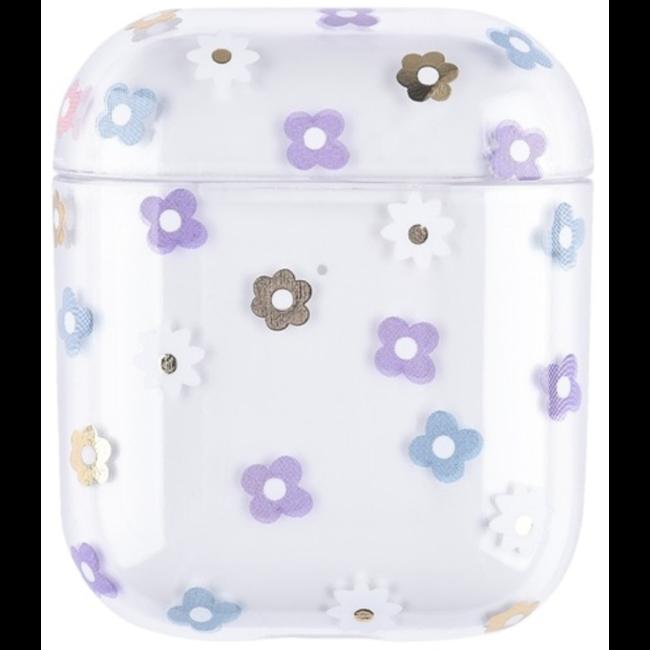 Apple AirPods 1 & 2 transparant fun hard case - mix bloemen