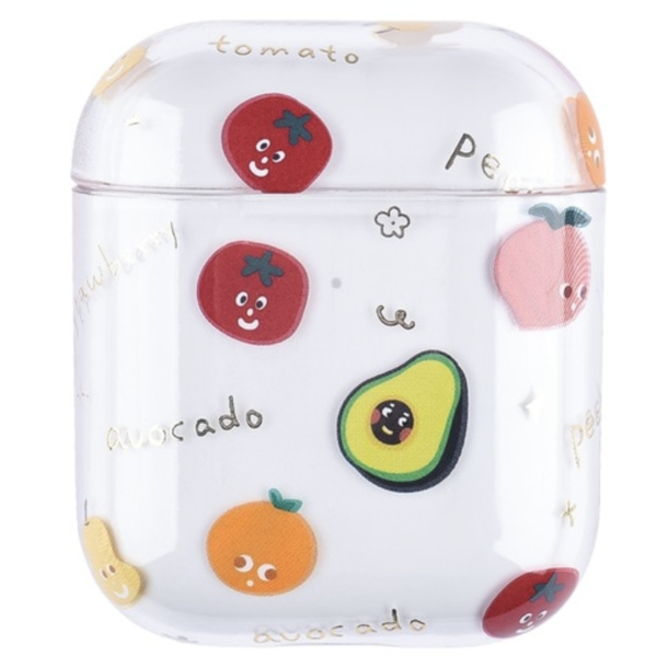 123Watches Apple AirPods 1 & 2 transparent fun hard case - mix fruit