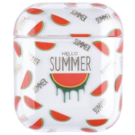 123Watches Apple AirPods 1 & 2 transparent fun hard case - watermelon