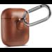 Merk 123watches Apple AirPods 1 & 2 effen lederen case - bruin