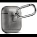 Merk 123watches Apple AirPods 1 & 2 effen lederen case - grijs