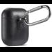 Merk 123watches Apple AirPods 1 & 2 effen lederen case - zwart