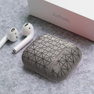 Merk 123watches Apple AirPods 1 & 2 triangle soft case - grijs