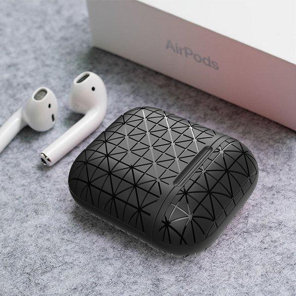 123Watches Apple AirPods 1 & 2 triangle soft case - zwart