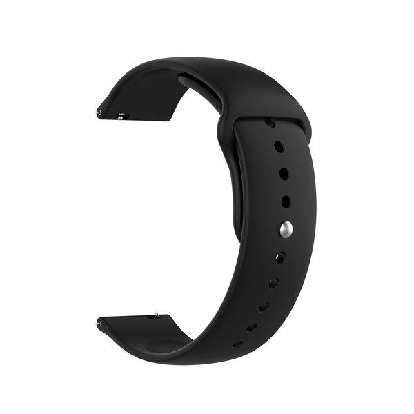 123Watches Garmin Vivoactive / Vivomove silicone band - zwart