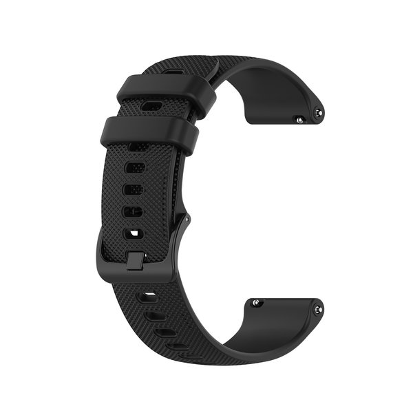 123Watches Garmin Vivoactive / Vivomove silicone gesp band - zwart
