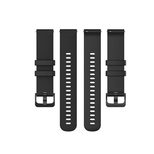 123Watches Bracelet à boucle en silicone Garmin Vivoactive / Vivomove - Noir