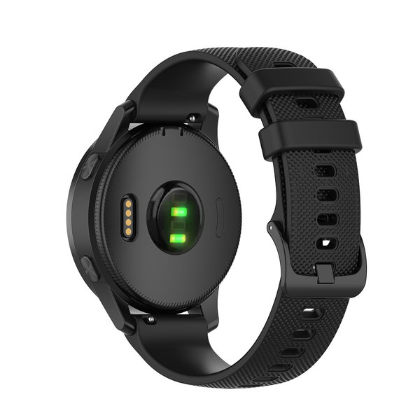 123Watches Garmin Vivoactive / Vivomove silicone belt buckle band - black