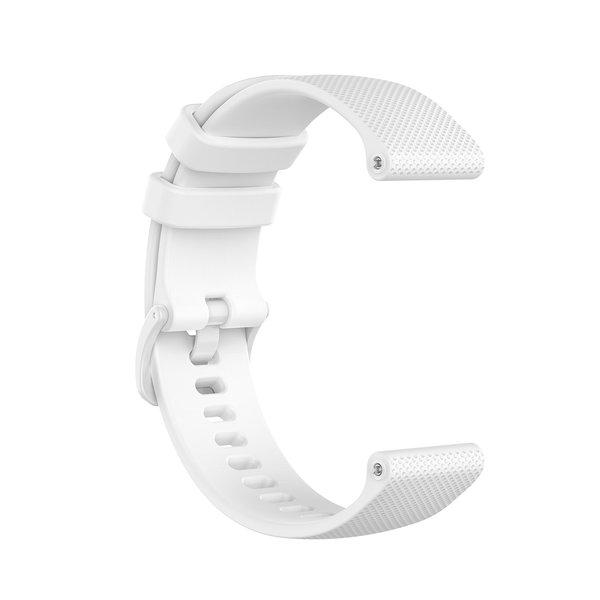 123Watches Garmin Vivoactive / Vivomove silicone gesp band - wit