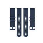 123Watches Bracelet à boucle en silicone Garmin Vivoactive / Vivomove - bleu marin