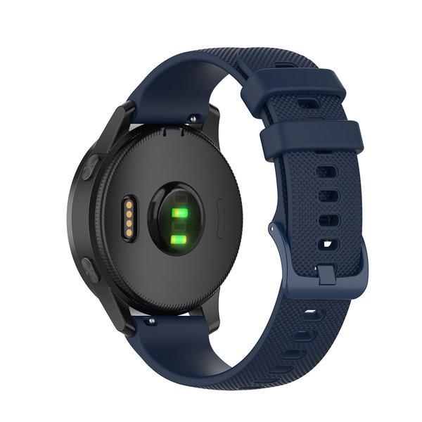 123Watches Garmin Vivoactive / Vivomove silicone gesp band - marineblauw
