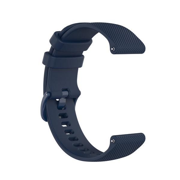 123Watches Garmin Vivoactive / Vivomove silicone belt buckle band - navy blue
