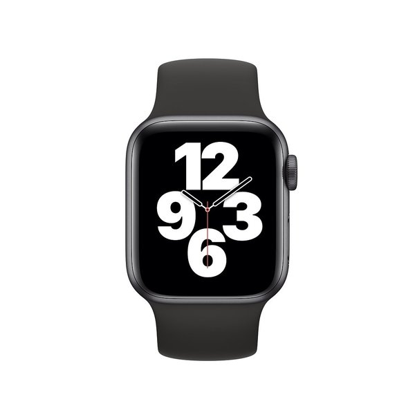 123Watches Apple watch sport solo loop band - zwart