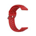 123Watches Garmin Vivoactive / Vivomove Silicone double buckle strap - red