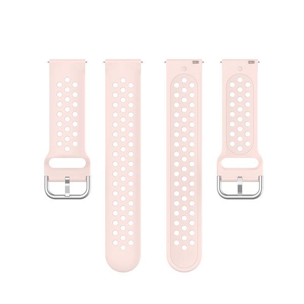 123Watches Garmin Vivoactive / Vivomove silicone dubbel gesp band - roze