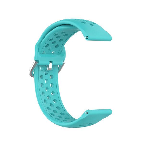 123Watches Garmin Vivoactive / Vivomove silicone dubbel gesp band - groenblauw