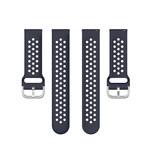 123Watches Garmin Vivoactive / Vivomove Silicone double buckle strap - dark blue