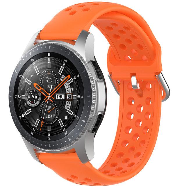 Merk 123watches Garmin Vivoactive / Vivomove silicone dubbel gesp band - oranje