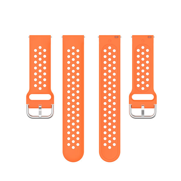 123Watches Garmin Vivoactive / Vivomove silicone dubbel gesp band - oranje