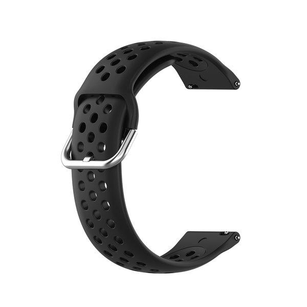 123Watches Garmin Vivoactive / Vivomove Silicone double buckle strap - black