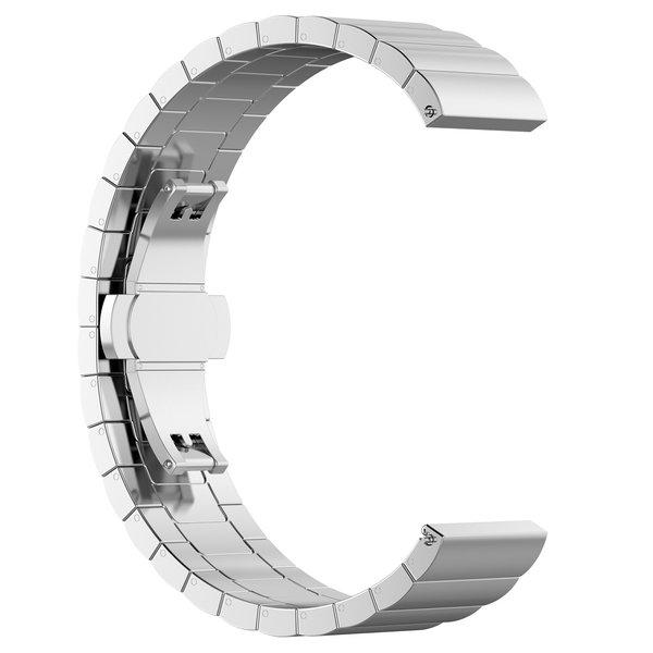 123Watches Garmin Vivoactive / Vivomove stalen schakel band - zilver