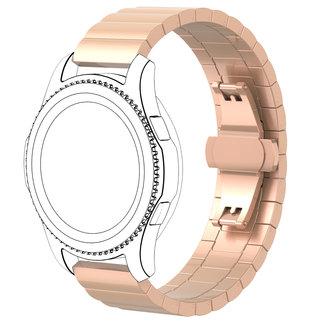 Merk 123watches Garmin Vivoactive / Vivomove stalen schakel band - rose goud