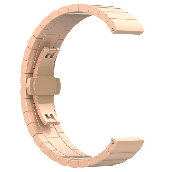 123Watches Garmin Vivoactive / Vivomove stalen schakel band - rose goud