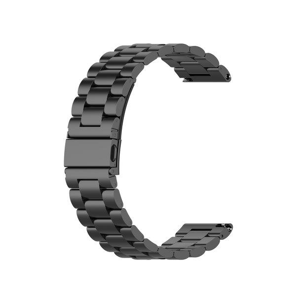 123Watches Garmin Vivoactive / Vivomove three steel band beads band - black