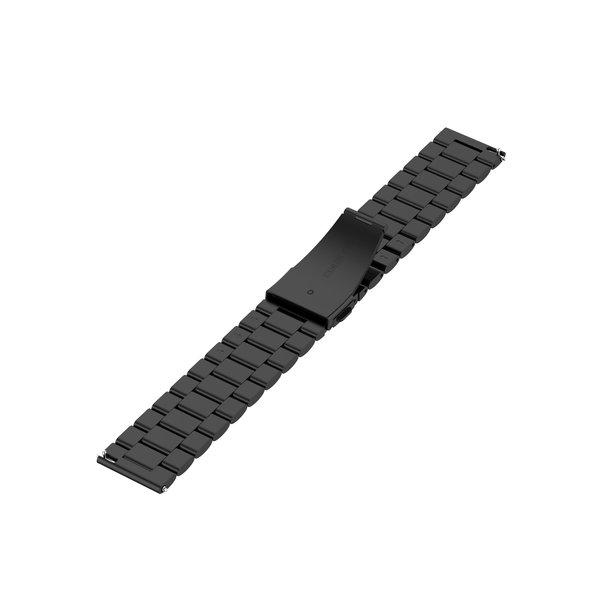 123Watches Garmin Vivoactive / Vivomove drie stalen schakel beads band - zwart